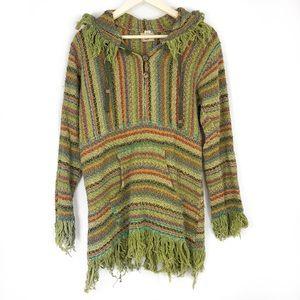1dd35a9c21b37 Gypsy Rose Bohemian Knitted Poncho with Hood.